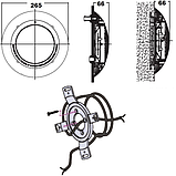 Прожектор галогенный Kripsol РEH101.С (100 Вт) под бетон, фото 4