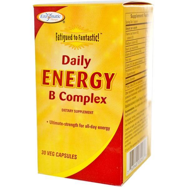 Enzymatic Therapy, Конец усталости!, комплекс восстановления энергии с витаминами B, 30 капсул