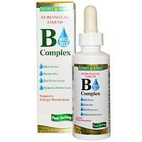 Natures Bounty, B-комплекс с B12, сублингвальная жидкость, 2 жидких унций (59 мл)
