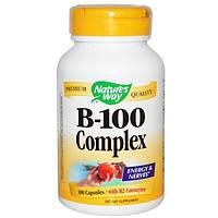 Natures Way, Комплекс B-100, с коферментом B2, 100 капсул