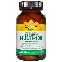 Country Life, Multi-100, 90 таблеток