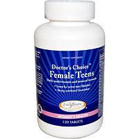 Enzymatic Therapy, Мультивитамины и микроэлементы для ежедневного приема для девушек, 120 таблеток