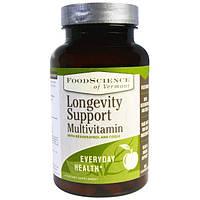 FoodScience, Мультивитамин для содействия долголетию, 90 капсул