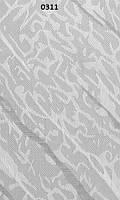 Жалюзи вертикальные 89 мм Волна0311 — тканевые, белые