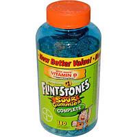 Flintstones, Кислые желатиновые мишки, мультивитамин для детей, 180 мишек