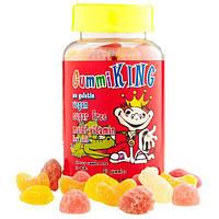 Gummi King, Мультивитамины для детей без сахара, 60 жевательных таблеток