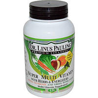 Irwin Naturals, Супермультивитамины с травами и энергетическими добавками Доктора Лайнуса Полинга, 120 капсул