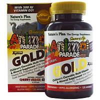 Natures Plus, Natures Plus, Парад животных, жевательный комплекс мультивитаминов и минералов, 120 таблеток