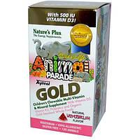 Natures Plus, Natures Plus, Animal Parade Gold, Детские мультивитамины и минералы, 120 жевательных таблеток
