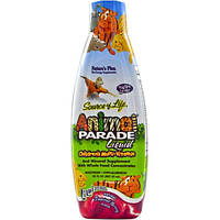 Natures Plus, Источник жизни, жидкие мультивитамины для детей от Animal Parade, 30 жидких унций (887.10 мл)