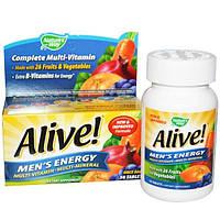 Natures Way, Alive!, Поливитаминный комлпекс для мужчин мультиминералы, 50 таблеток