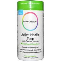 Rainbow Light, Мультивитамины для подростков: активность, здоровье и чистая кожа, 90 таблеток