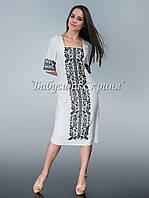 Заготовка Сокальської жіночої сукні для вишивки нитками/бісером БС-71с, фото 1