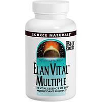 Мультивитамины и минералы Source Naturals Elan Vital Multiple 90 таблеток