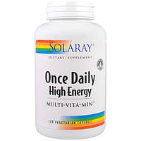 Solaray, Одна капсула в день, Multi-Vita-Min энергетическая добавка, 120 вегетарианских капсул