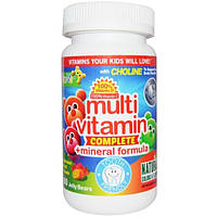 Yum-Vs, Поливитаминная и минеральная формула, фруктовый вкус, 60 мармеладных мишек