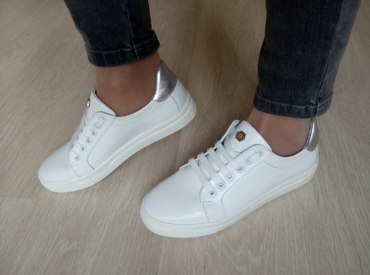 aa257f66 Женские повседневные кожаные кеды цвет белый на белой подошве - Женская  обувь от производителей в Харькове