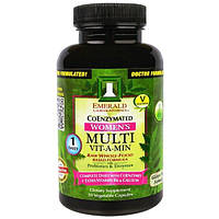 Emerald Laboratories, CoEnzymated, Multi Vit-A-Min, мультивитамины для женщин с коэнзимами 30 вегетарианских капсул
