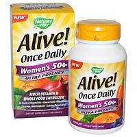Natures Way, Для жизни! Ежедневная сверхактивность для женщин за 50, источник энергии с мультивитаминами и натуральной пищей, 60 таблеток
