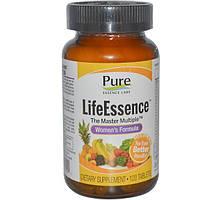 Pure Essence, LifeEssence, The Master Multiple, формула для женщин, 120 таблеток