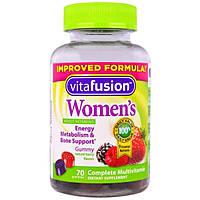 , Мультивитамины для женщин VitaFusion натуральный вкус ягод, 70 жевательных таблеток