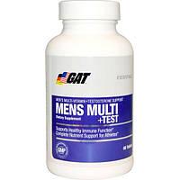 GAT, Essentials Mens Multi + Test, 60 Tablets