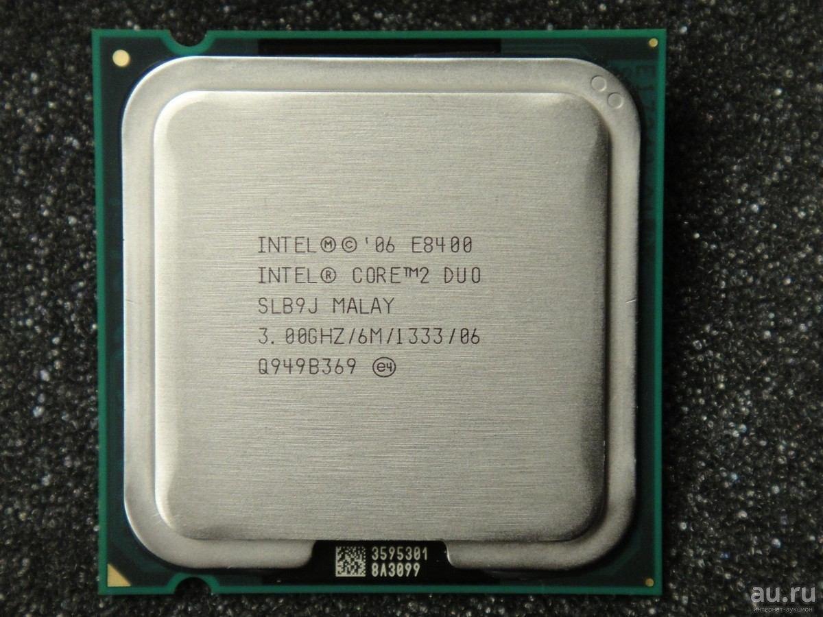 Процессор E8400 Intel Core 2 Duo  3,00 GHZ/6M/1333