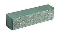 Облицовочный кирпич LAND BRICK колотый зеленый 250х60х65 мм