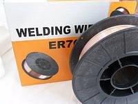 Проволока сварочная омедненная ER70S-6 д-0,8 мм  4 кг