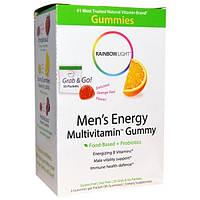 Rainbow Light, Mens Energy Multivitamin Gummy, Orange Zest Flavor, 30 Packets