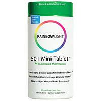 Rainbow Light, Мини-таблетки 50+, мультивитамины на основе продуктов питания, 90 мини-таблеток