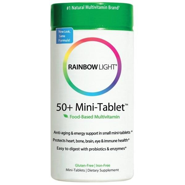 Rainbow Light, 50+ антивозрастной защитный комплекс витаминов, 180 мини-таблеток