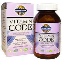 Garden of Life, Витаминный код, сырые витамины для беременных, 180 вегетарианских капсул