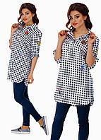 """Стильная женская рубашка """" Клетка вышивка """" Dress Code"""