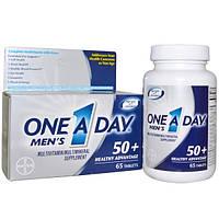 One-A-Day, Mens, 50+ Healthy Advantage,мультивитамин /мультиминерал, 65 таблеток