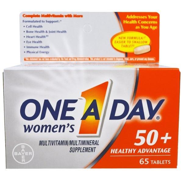 One-A-Day, Раз в день, для женщин 50+, польза для здоровья, 65 таблеток - Интернет-магазин для здоровой жизни в Киеве