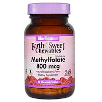 Bluebonnet Nutrition, EarthSweet Chewables, CellularActive Methylfolate, Natural Raspberry Flavor, 90 Chewable Tablets