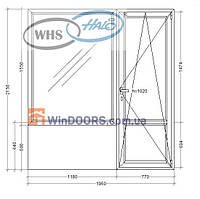 """Балконный блок ПВХ WHS HALO, 9-ти 12-ти этажка """"Чешка"""" 1950х2150 мм"""
