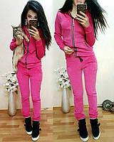 Женский велюровый спортивный костюм
