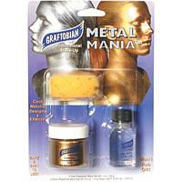 Набор рассыпчатой металлической пудры - Graftobian Metal Mania Cosmetic Powdered Metals