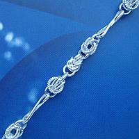 Серебряная цепочка, 550мм, 19 грамм, плетение Орех с восьмеркой