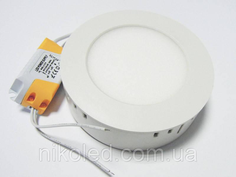 Світильник накладної LED 6W круглий метал