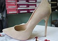 Туфли женские бежевые классические