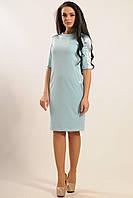 Трикотажное голубое платье Ким ТМ Ри Мари  42-52 размеры