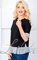 Молодежная женская блуза 812 комбинированная