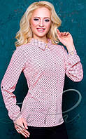Стильная женская блуза 2055 в горошек