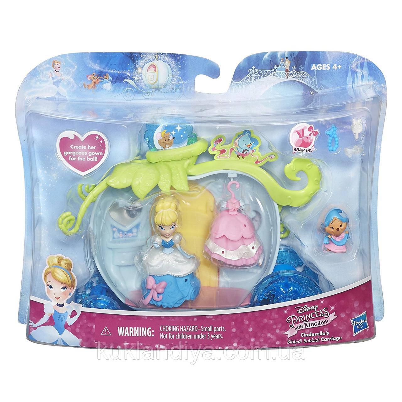 """Игровой набор Disney Princess Little Kingdom Cinderella's """"Принцессы Диснея"""" - Карета с мини-куклой Золушкой"""