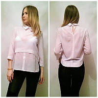Стильная шифоновая блузка у-2133