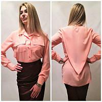 Женская шифоновая рубашка у-2134