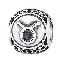 "Шарм бусина №1447 ""Знак зодиака Телец"" для браслета Пандора PANDORA (Серебро)"